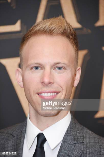 Songwriter Justin Paul attends the 'The Greatest Showman' World Premiere aboard the Queen Mary 2 at the Brooklyn Cruise Terminal on December 8 2017...