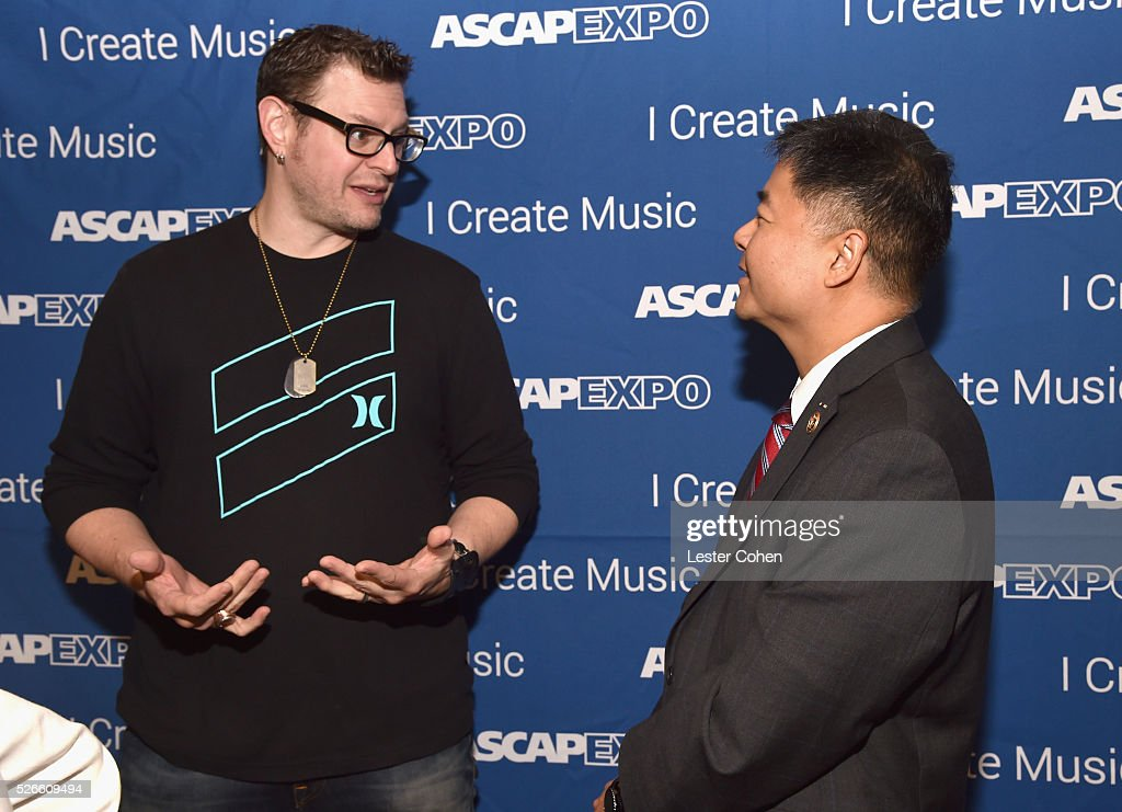 Songwriter Kevin Kadish (L) and Congressman Ted Lieu attend the 2016 ASCAP 'I Create Music' EXPO on April 30, 2016 in Los Angeles, California.