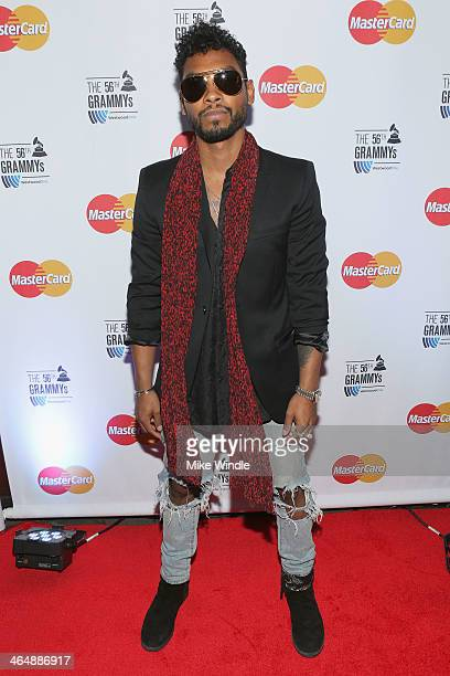Songwriter Miguel attends MasterCard #PricelessSurprises Backstage At The GRAMMY'S on January 24 2014 in Los Angeles California