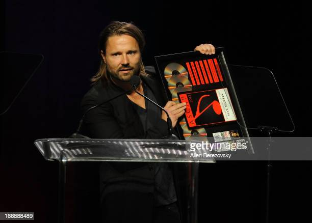 Songwriter of the Year award recipient Max Martin speaks at the 30th Annual ASCAP Pop Music Awards at Loews Hollywood Hotel on April 17 2013 in...