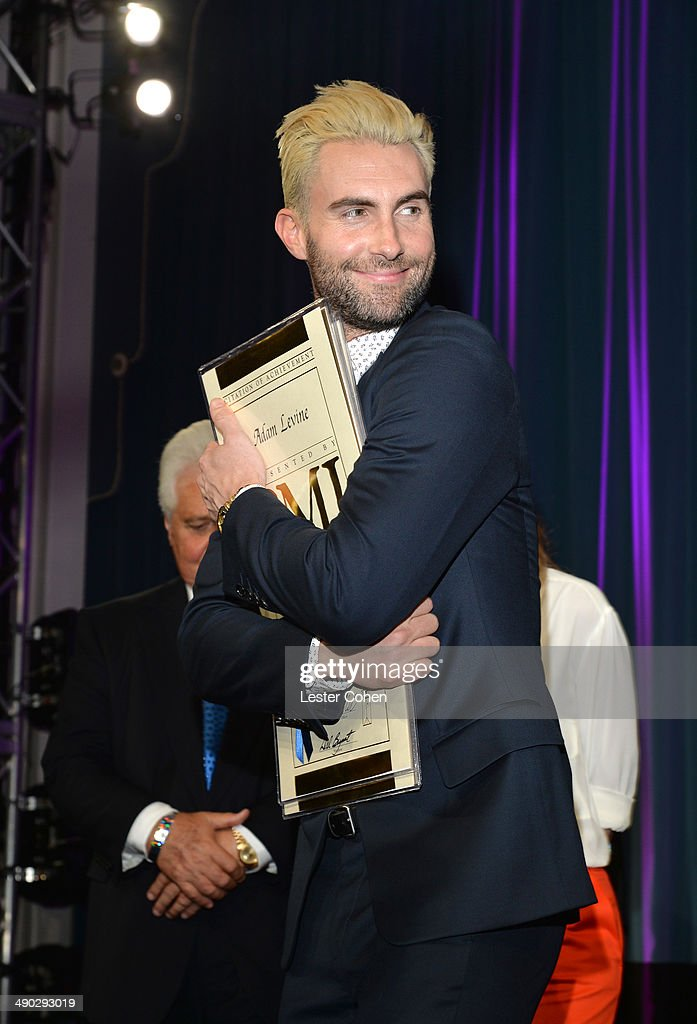Songwriter of the Year winner <a gi-track='captionPersonalityLinkClicked' href=/galleries/search?phrase=Adam+Levine+-+Singer&family=editorial&specificpeople=202962 ng-click='$event.stopPropagation()'>Adam Levine</a> attends the 2014 BMI Pop Awards at the Beverly Wilshire Four Seasons Hotel on May 13, 2014 in Beverly Hills, California.