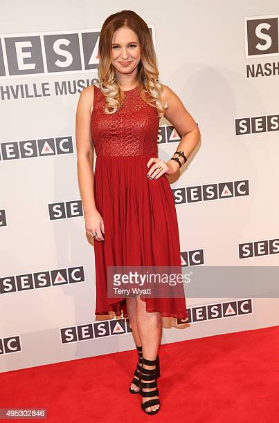 Songwriter Olivia Lane attends the 2015 SESAC Nashville awards at the Country Music Hall of Fame and Museum on November 1 2015 in Nashville Tennessee