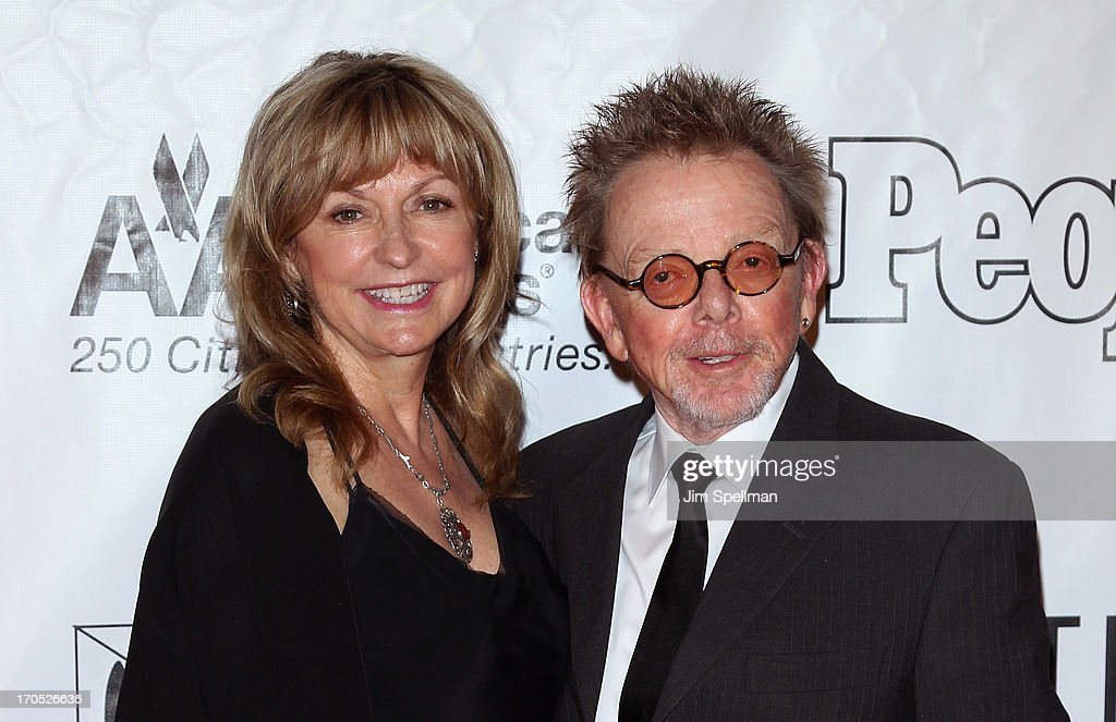 Songwriter Paul Williams (R) and guest attend the 2013 Songwriters Hall Of Fame Gala at Marriott Marquis Hotel on June 13, 2013 in New York City.