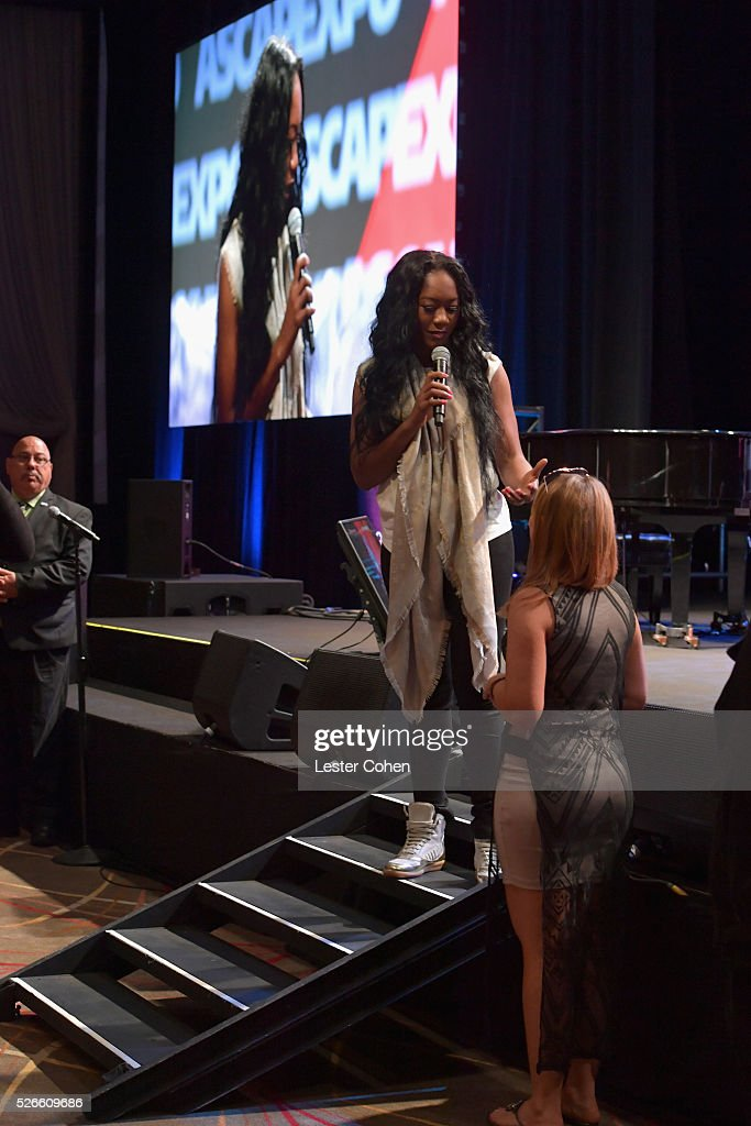 Songwriter Priscilla Renea speaks on stage at the 2016 ASCAP 'I Create Music' EXPO on April 30, 2016 in Los Angeles, California.