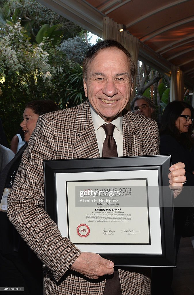 Songwriter Richard M. Sherman, AFI Award honoree, attends the 14th annual AFI Awards Luncheon at the Four Seasons Hotel Beverly Hills on January 10, 2014 in Beverly Hills, California.