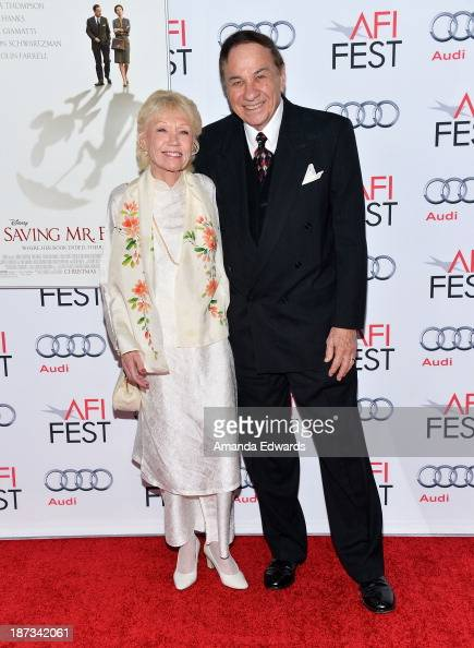 Songwriter Richard M Sherman and Elizabeth Sherman arrive at the AFI FEST 2013 Presented By Audi Disney's 'Saving Mr Banks' Opening Night Gala...