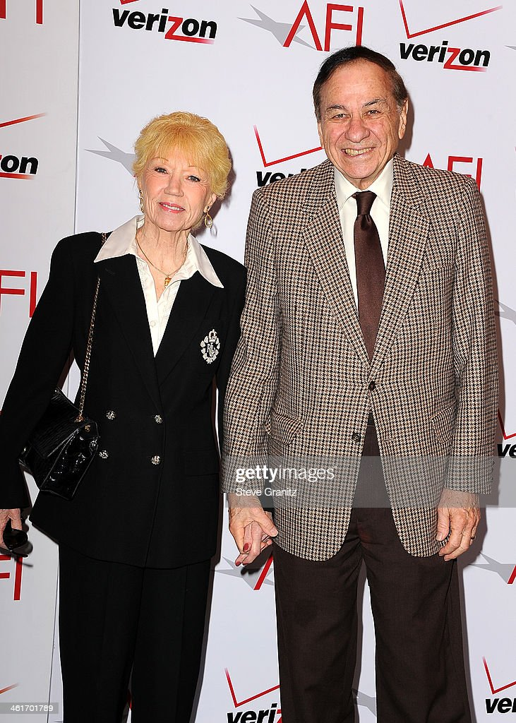 Songwriter Richard M. Sherman (R) and wife Elizabeth Sherman attend the 14th annual AFI Awards Luncheon at the Four Seasons Hotel Beverly Hills on January 10, 2014 in Beverly Hills, California.