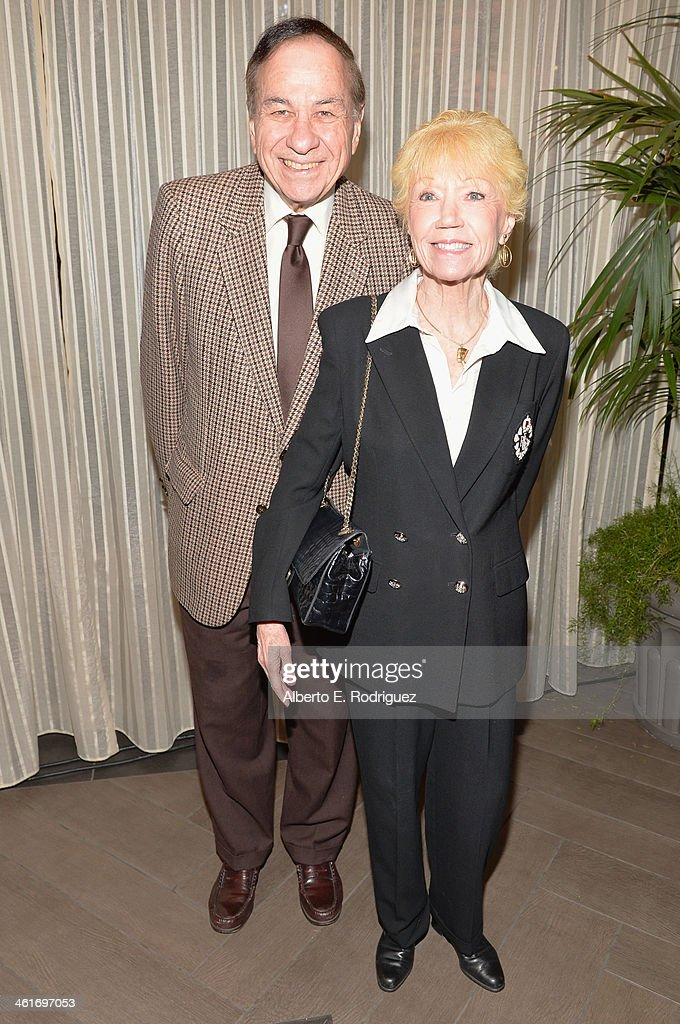 Songwriter Richard M. Sherman and wife Elizabeth Sherman attends the 14th annual AFI Awards Luncheon at the Four Seasons Hotel Beverly Hills on January 10, 2014 in Beverly Hills, California.