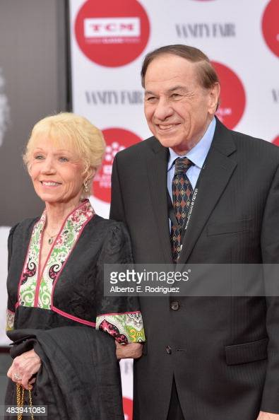 Songwriter Richard M Sherman and wife Elizabeth Sherman attends the opening night gala screening of 'Oklahoma' during the 2014 TCM Classic Film...