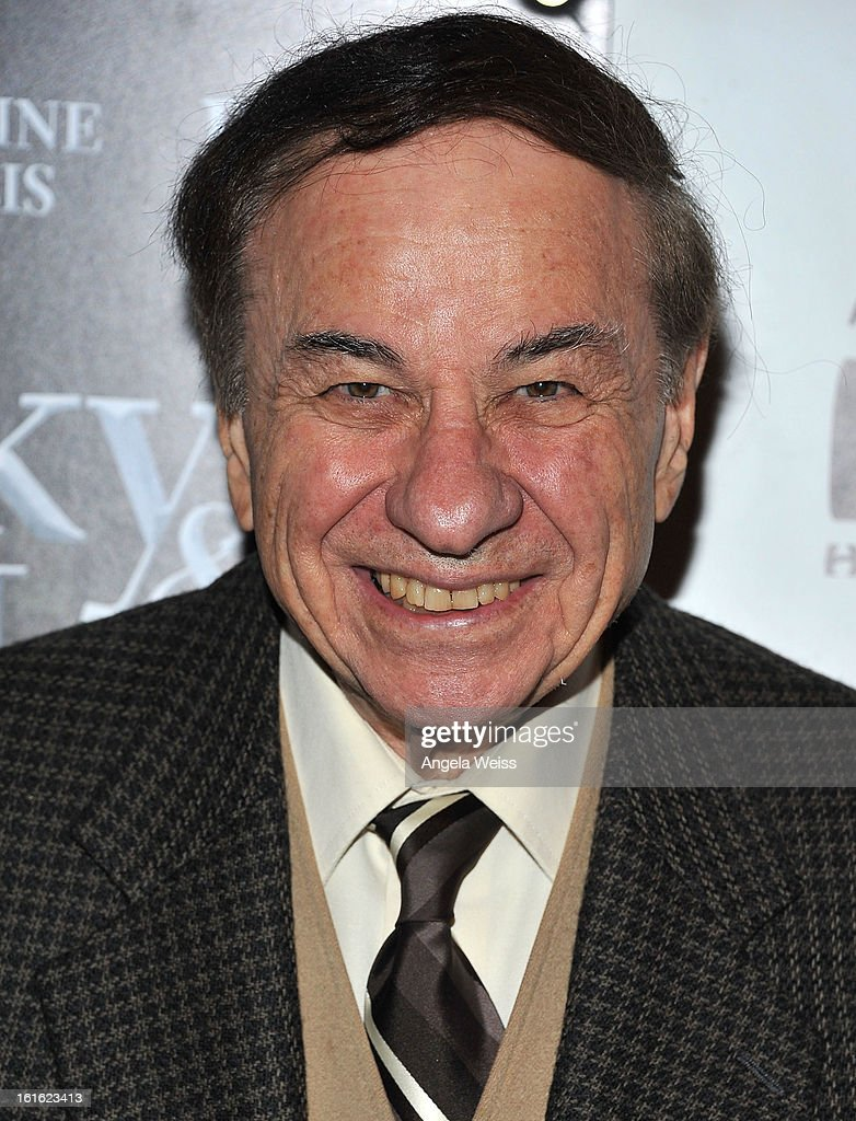 Songwriter Richard M. Sherman arrives at the opening night of 'Jekyll & Hyde' held at the Pantages Theatre on February 12, 2013 in Hollywood, California.