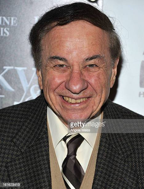Songwriter Richard M Sherman arrives at the opening night of 'Jekyll Hyde' held at the Pantages Theatre on February 12 2013 in Hollywood California