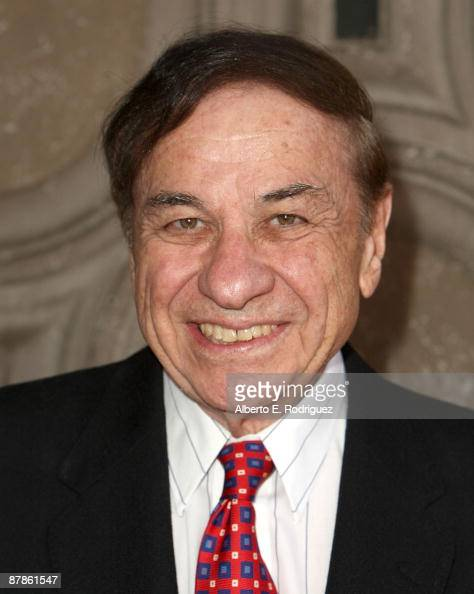 Songwriter Richard M Sherman arrrives at a screening of Walt Disney's 'the boys the sherman brother's story' held at the El Capitan Theatre on May 19...