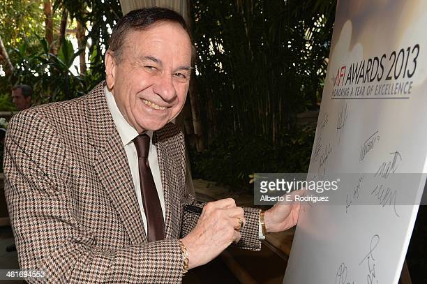 Songwriter Richard M Sherman attends the 14th annual AFI Awards Luncheon at the Four Seasons Hotel Beverly Hills on January 10 2014 in Beverly Hills...