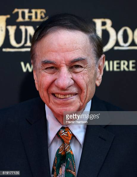 Songwriter Richard M Sherman attends the premiere of Disney's 'The Jungle Book' at the El Capitan Theatre on April 4 2016 in Hollywood California
