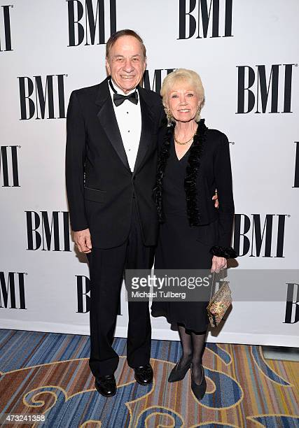 Songwriter Richard Sherman and Elizabeth Sherman attend the BMI 2015 Film and Television Awards at Regent Beverly Wilshire Hotel on May 13 2015 in...