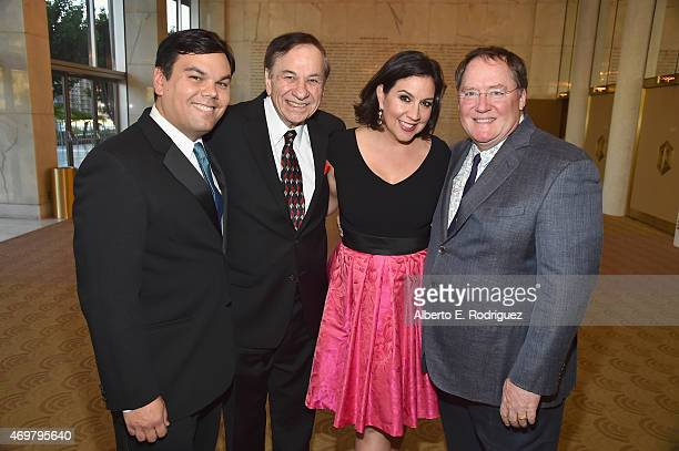 Songwriter Robert Lopez composer Richard Sherman songwriter Kristen AndersonLopez and CEO of Pixar Walt Disney Animation Studios and DisneyToon...