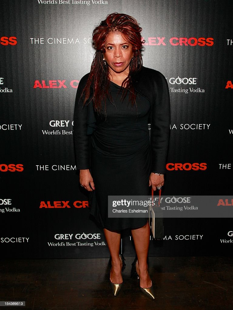 Songwriter Valerie Simpson attends The the Cinema Society & Grey Goose screening of 'Alex Cross' at Tribeca Grand Screening Room on October 18, 2012 in New York City.
