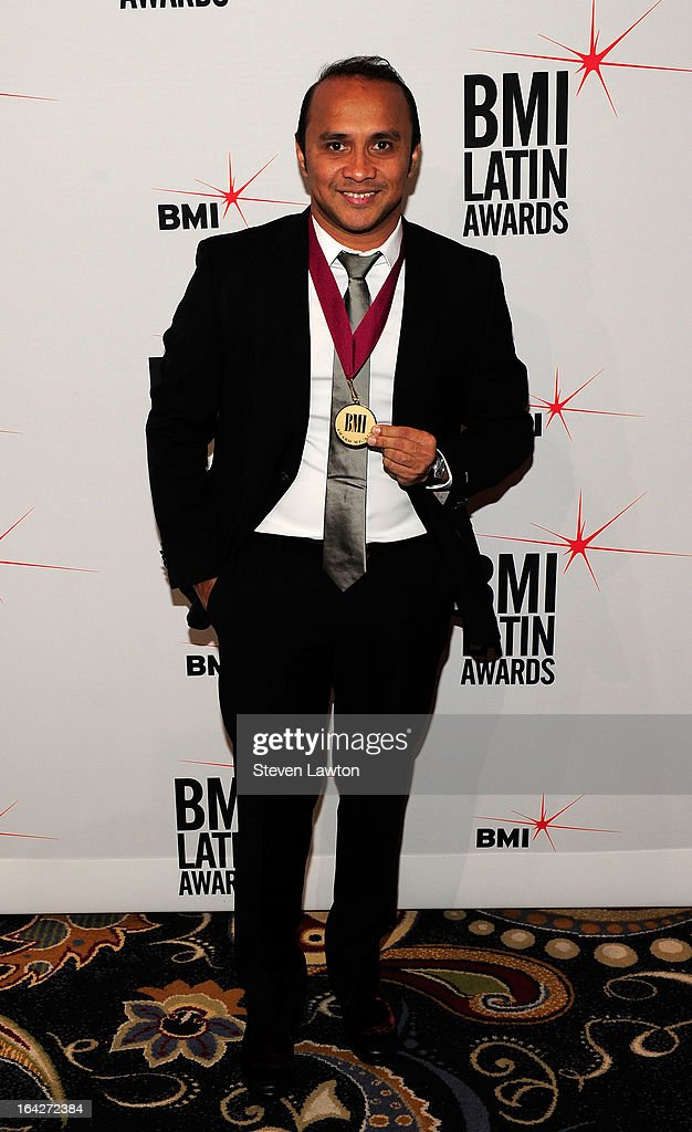 Songwriter Wilfan Castillo arrives at the BMI;s 20th Annual Latin Music Awards at the Bellagio on March 21, 2013 in Las Vegas, Nevada.