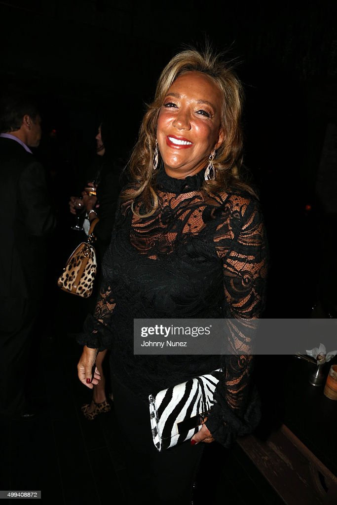 Songwriter/philanthropist Denise Rich attends the Gabrielle's Angel Foundation For Cancer Research benefit party at TAO Downtown on November 30, 2015 in New York City.