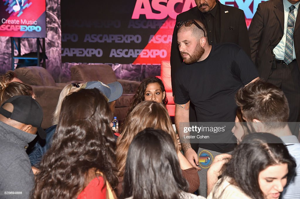 Songwriter/producer Jacob 'JKash' Kasher greets EXPO attendees during the 2016 ASCAP 'I Create Music' EXPO on April 28, 2016 in Los Angeles, California.