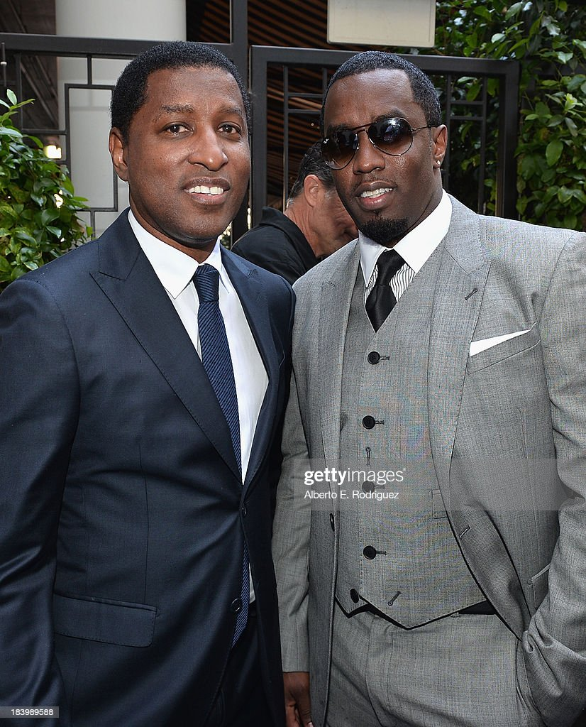 Songwriter/record producer Kenny '<a gi-track='captionPersonalityLinkClicked' href=/galleries/search?phrase=Babyface&family=editorial&specificpeople=227435 ng-click='$event.stopPropagation()'>Babyface</a>' Edmonds and businessman/singer Sean Combs attend a ceremony honoring Kenny '<a gi-track='captionPersonalityLinkClicked' href=/galleries/search?phrase=Babyface&family=editorial&specificpeople=227435 ng-click='$event.stopPropagation()'>Babyface</a>' Edmonds with the 2508th Star on the Hollywood Walk of Fame on October 10, 2013 in Hollywood, California.