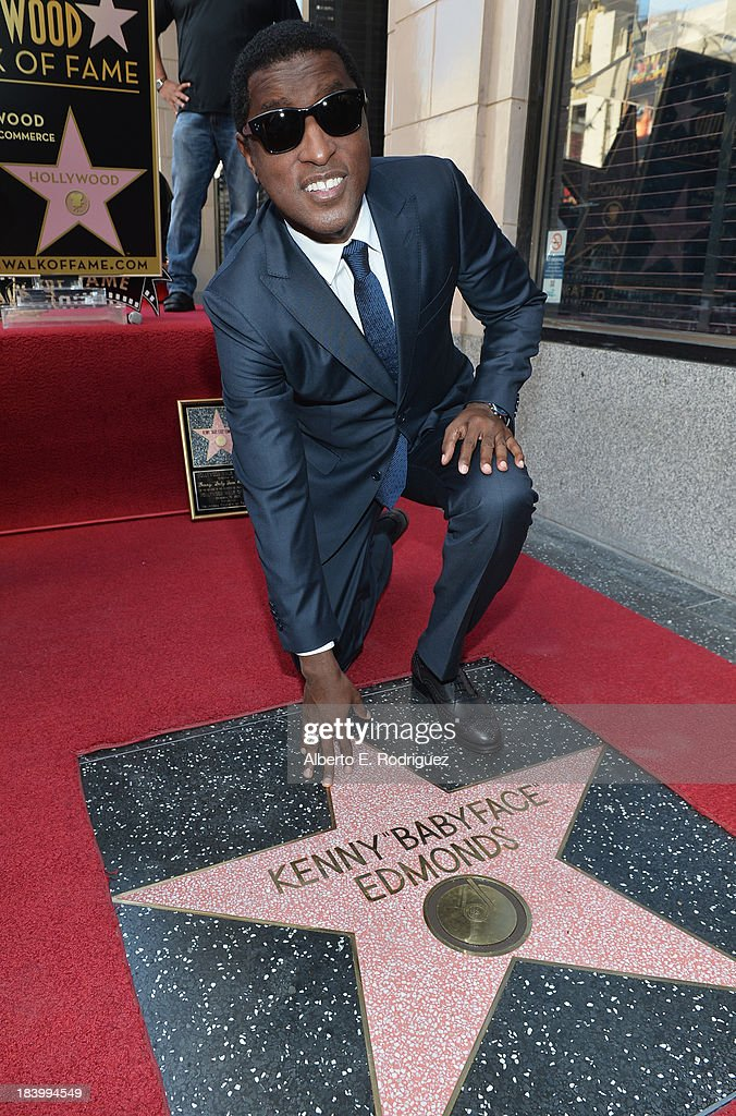 Songwriter/record producer Kenny 'Babyface' Edmonds attends a ceremony honoring him with the 2508th Star on the Hollywood Walk of Fame on October 10...