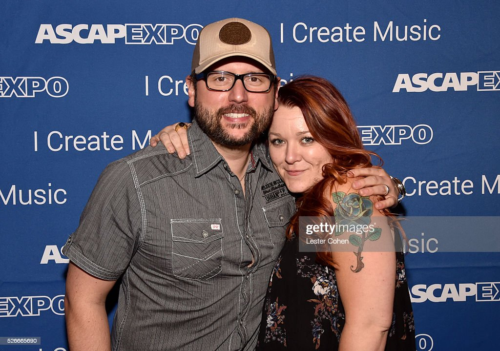 Songwriters Chris DeStefano (L) and Audra Mae attend the 2016 ASCAP 'I Create Music' EXPO on April 30, 2016 in Los Angeles, California.