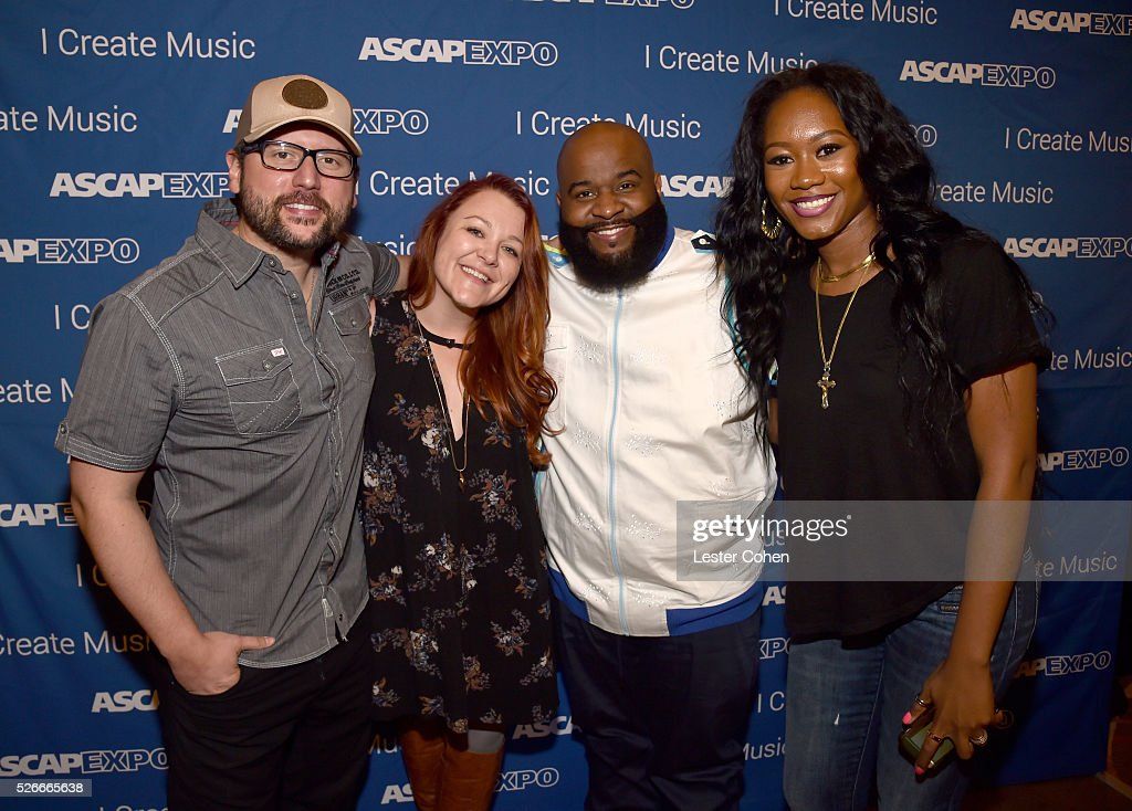 Songwriters Chris DeStefano, Audra Mae, LaShawn Daniels and Priscilla Renea attend the 2016 ASCAP 'I Create Music' EXPO on April 30, 2016 in Los Angeles, California.