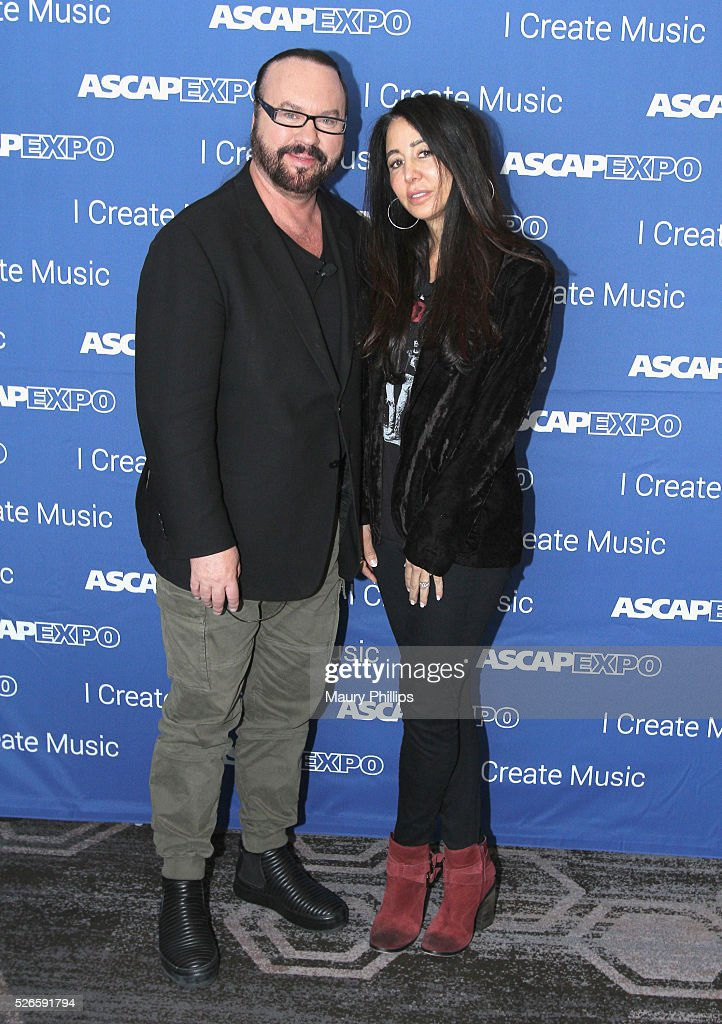 Songwriters <a gi-track='captionPersonalityLinkClicked' href=/galleries/search?phrase=Desmond+Child&family=editorial&specificpeople=745873 ng-click='$event.stopPropagation()'>Desmond Child</a> and Antonina Armato attend the 2016 ASCAP 'I Create Music' EXPO on April 30, 2016 in Los Angeles, California.