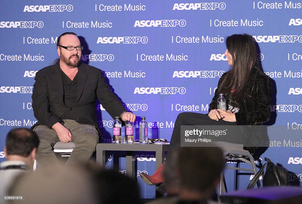 Songwriters <a gi-track='captionPersonalityLinkClicked' href=/galleries/search?phrase=Desmond+Child&family=editorial&specificpeople=745873 ng-click='$event.stopPropagation()'>Desmond Child</a> and Antonina Armato speak onstage during the Pop/Rock Feedback panel during the 2016 ASCAP 'I Create Music' EXPO on April 30, 2016 in Los Angeles, California.