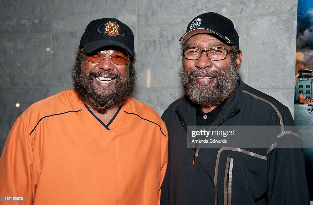 Songwriters Eddie and Brian Holland attend the 'Red Tails' VIP opening night screening at Rave Baldwin Hills 15 Theatres on January 20 2012 in Los...