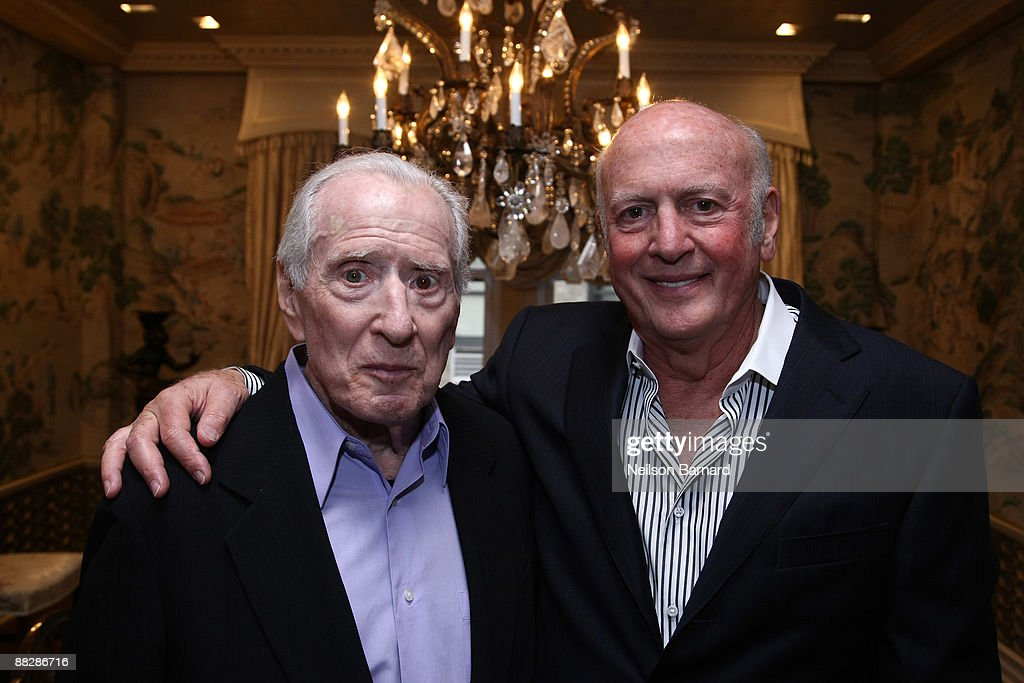 *** EXCLUSIVE ** Songwriters Jerry Leiber (L) and Mike Stoller at the release party for their autobiography 'HOUND DOG' at a private residence on June 7, 2009 in New York City.