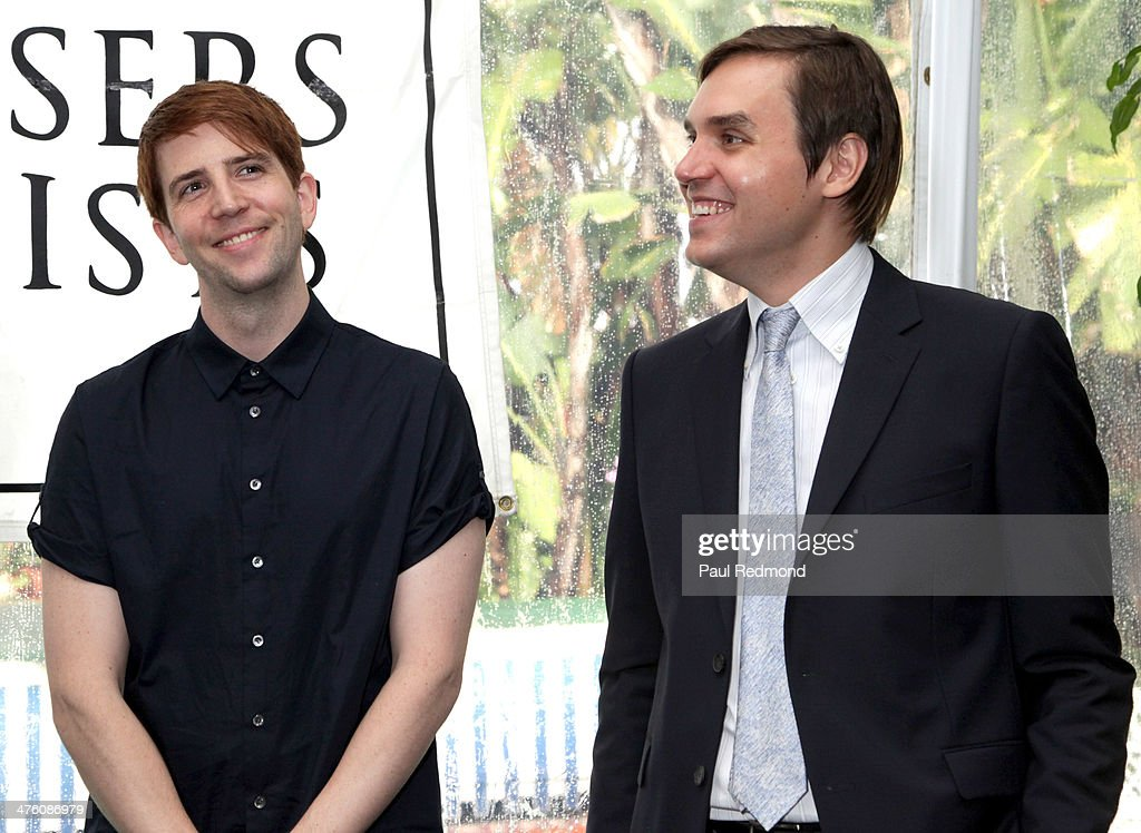 Songwriters Owen Pallett and William Butler attending the SCL PreOscar Reception Honoring Academy Awards Music Nominees in Beverly Hills on March 1...
