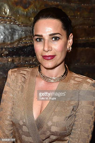 Sonia Amoruso attends the Gala Dinner during The Costa Smeralda Invitational golf tournament at Pevero Golf Club Costa Smeralda on June 25 2016 in...