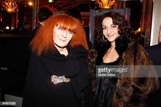 Sonia and Nathalie Rykiel attend the Fashion Dinner for Aids at the Pavillon d'Armenonville on January 28 2009 in Paris France