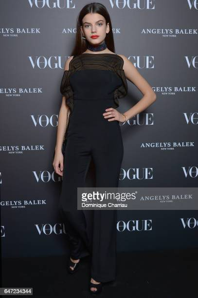 Sonia Ben Ammar arrives at the Vogue Thailand Angelys Balek Cocktail Dinner as part of Paris Fashion Week Womenswear Fall/Winter 2017/2018 at Loulou...