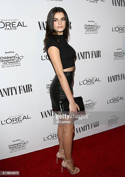 Sonia Ben Ammar attends a DJ night hosted by Vanity Fair L'Oreal Paris Hailee Steinfeld at Palihouse Holloway on February 26 2016 in West Hollywood...
