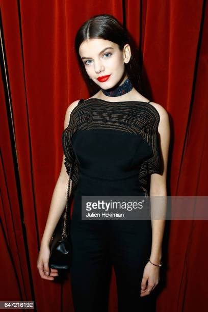 Sonia Ben Ammar attends the Vogue Thailand Angelys Balek Cocktail Dinner as part of Paris Fashion Week Womenswear Fall/Winter 2017/2018 at Loulou...