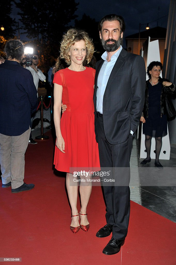 Sonia Bergamasco and Fabrizio Gifuni attend Nastri D'Argento 2016 Award Nominations Red carpet on May 31, 2016 in Rome, Italy.