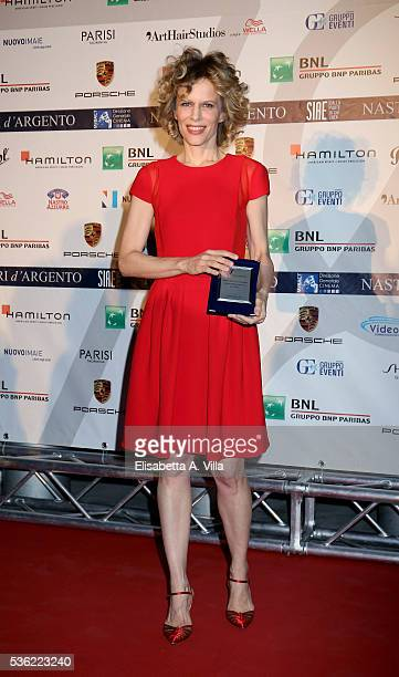 Sonia Bergamasco attends Nastri D'Argento 2016 Award Nominations at Maxxi on May 31 2016 in Rome Italy