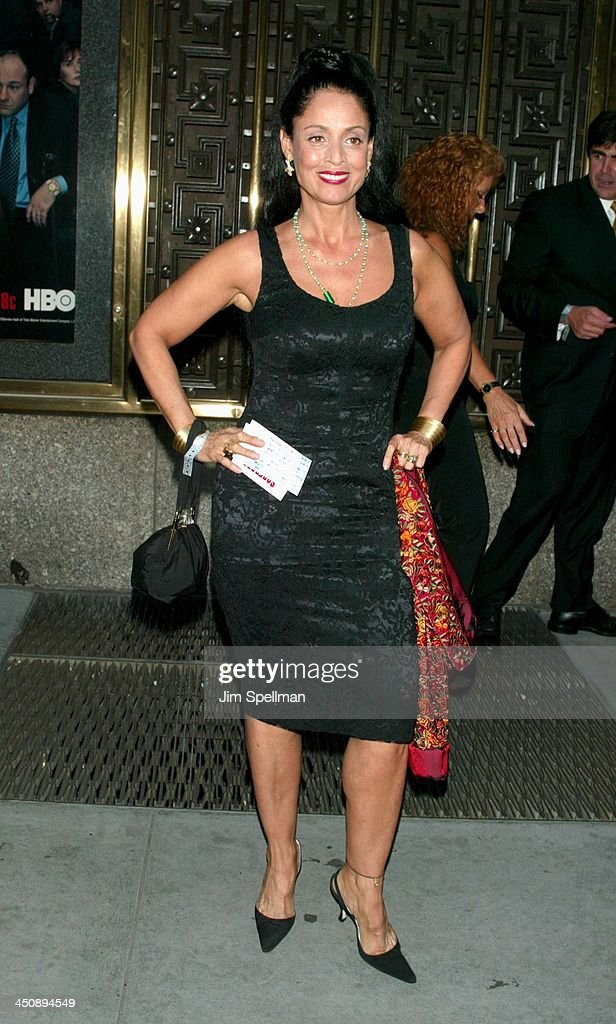 Sonia Braga during The Sopranos 4th Season Premiere at Radio City Music Hall in New York City New York United States