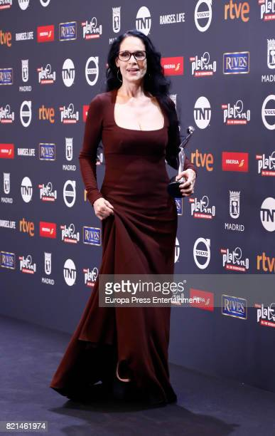 Sonia Braga is seen at Platino Awards winners press room at La Caja Magica on July 22 2017 in Madrid Spain