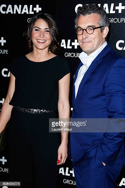 Sonia Chironi and Olivier Ravanello attend the 'Canal Animators' Party At Manko on February 3 2016 in Paris France