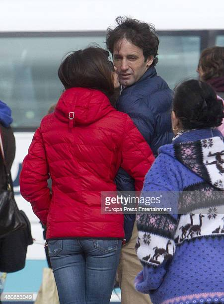 Sonia Ferrer and Alvaro Munoz Escassi are seen on March 4 2014 in Madrid Spain