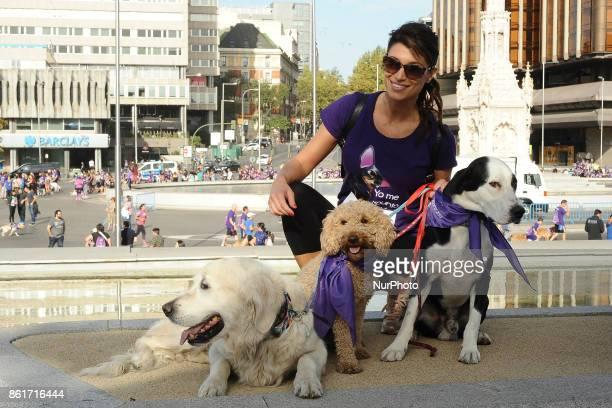 Sonia Ferrer attends Perroton race of solidarity for the adoption and responsible holding of companion animals Madrid Spain October 15 2017