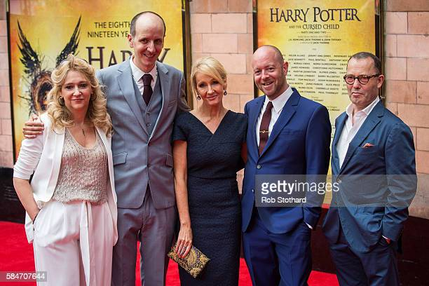 Sonia Friedman Jack Thorne J K Rowling John Tiffany and Colin Callender attend the press preview of 'Harry Potter The Cursed Child' at Palace Theatre...