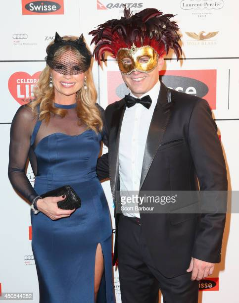 Sonia Kruger and Karl Stefanovic attend the Celebrate Life Ball at Grand Hyatt Melbourne on June 13 2014 in Melbourne Australia