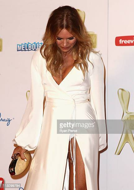 Sonia Kruger arrives on the red carpet ahead of the 2011 Logie Awards at Crown Palladium on May 1 2011 in Melbourne Australia