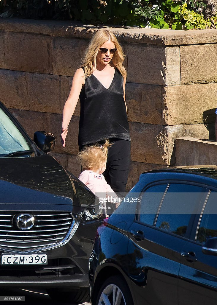 Sonia Kruger with her daughter Maggie on August 16 2016 in Sydney Australia