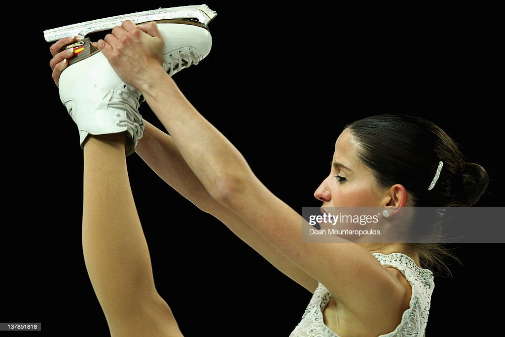 Sonia Lafuente of Spain in action during the Ladies Free Skating during the ISU European Figure Skating Championships at Motorpoint Arena on January 28, 2012 in Sheffield, England.